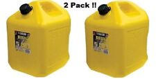 Gas Cans Diesel Can 5-Gallon 2-Pack Midwest Can Company 8600 Poly 2 Units Yellow
