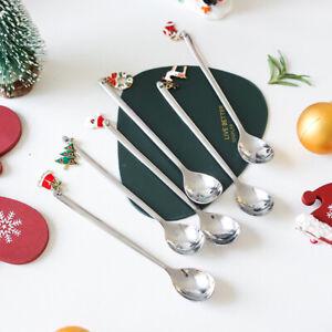 Christmas Stainless Steel Coffee Spoons Tea Spoons Dessert Snack Teaspoon-Decor-