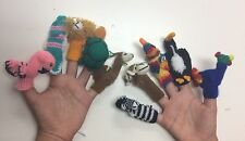 Handknitted Finger Puppets. Wholesale set of 10.Educational Tools,Zoo Animals