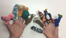Handknitted Finger Puppets. Wholesale set of 20. Handcrafted in Peru,Zoo Animals
