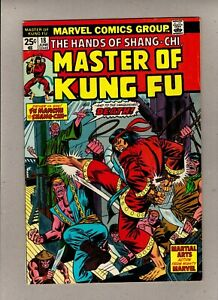 THE HANDS OF SHANG-CHI, MASTER OF KUNG FU #18_JUNE 1974_VERY GOOD+_BRONZE AGE!
