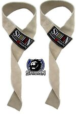 SUEDE/LEATHER Weight Lifting Straps Hand Bar Wrist Support Straps/Gloves