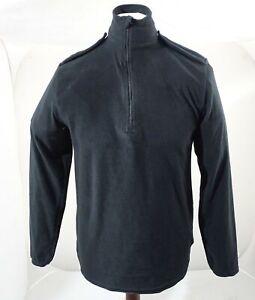 Churchill Black Lightweight Fleece 100% Polyester 1/2 Zip Security BLAFLC01B