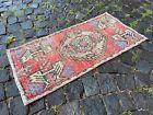 Decor rug, Organic vintage rug, %100 wool handmade, Turkish rug | 1,5 x 3,0 ft