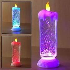 26cm SEQUINNED LED CANDLE ILLUSION USB LED light Water Glitter Spinner Candle DI