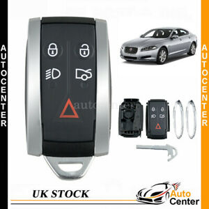 5 Button Remote Key Fob Case Smart Shell Blade For JAGUAR X TYPE S XKR XF XK XFR