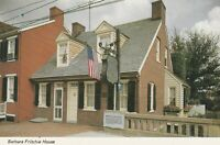 Postcard Barbara Fritchie House Street View Frederick MD Maryland