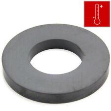 100mm O.D x 50mm I.D x 12mm thick Y30BH Ferrite Ring Magnet - 9kg Pull (x1)