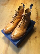 Trickers Stow Brogue Boots Antique Acorn Size 10.5/11 Fitting 5 Dainite Sole