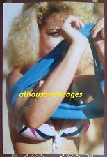 1980s Photo/Sexy Blonde Hair Woman Taking Shirt Off Exposing Bikini Top  T178