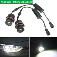 2* 40W Angel EYE Halo Ring LED Bulbs White Error Free 1600lm For BMW E63 E53 E39