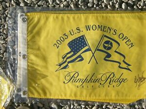 2003 WOMEN's us open @ Pumpkin Ridge Flag signed LUNKE (winner) !!!