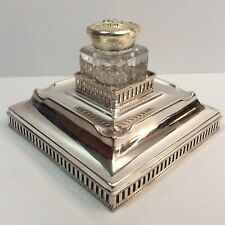 Vintage Silver Plated Inkwell - Englane