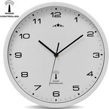 Wanduhr Funkuhr Quarz Funkwanduhr Analog Uhr 31cm Zeitumstellung Automatisch