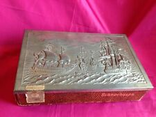 Vintage German Schneehasen Cigar Box with Decorative Tin Lid