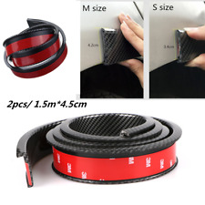 2pcs 1.5M Carbon Fiber Cover Car Wheel Eyebrow Arch Lips Strip Fender Protector