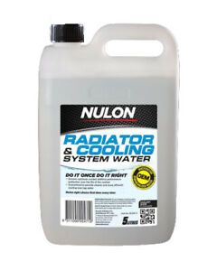 Nulon Radiator & Cooling System Water 5L fits Mazda 818 1.6