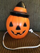 "Vintage 1981 Halloween Pumpkin 9"" Lighted Blow Mold Empire Carolina Enterprises"