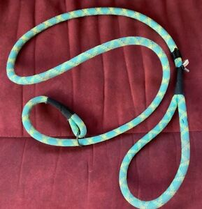 Large Neon Slip Knot Dog Lead Walking Quick Release No Choke Unisex Reflective
