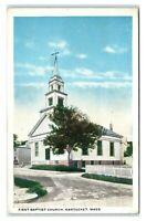 Postcard First Baptist Church, Nantucket MA 1936 I7