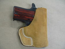 Inside the Pocket Leather Concealment Holster For Springfield 911 Pistol 380 CCW