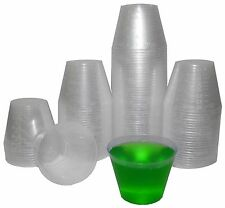 200 Plastic Shot Glasses 1oz Party Cups Jello Shot Bulk Shooter Cups Outdoor Bar
