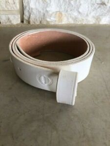 Waist belt with Leather Keeper, White, Size 32, US Made, New, Civil War