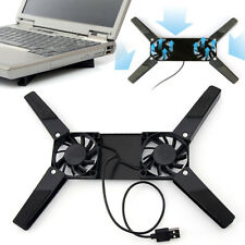 Portable Mini USB Cooling Pad Cooler Stand for Laptop Notebook PC With 2 Fans AS