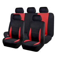Car Seat Covers set low bucket washable lady van truck SUV red bench split 40 60