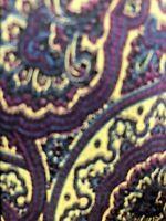 Stefano Ricci Mens Silk Necktie Purple Yellow Black Slim Tie GUC