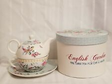 Creative Tops English Garden Tea for one & Saucer in box birds flowers