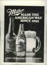 1985 Press Photo Miller Brewing Company Advertisement - mjp21678