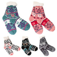 Ladies Winter Bed Socks Warm Thick Anti Slipping Slippers Nordic Patterns DN22