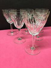 6 verres à vin ZERMATT 6/1943 - en cristal. H: 140 mm    Val Saint Lambert