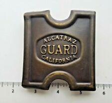 Vintage Alcatraz Guard California Belt Buckle Marked Anson Mills T.C.Orndorff