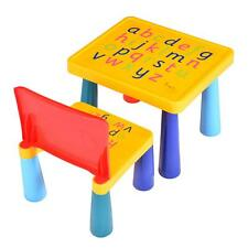 Table Study Activity Toddler Furniture Yellow Children Chair Desk Kids Play Set