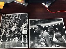 2 Black and White pictures of Shaq Orlando Magic and NY Knicks 8X10