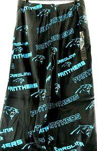 Carolina Panthers NFL Microfleece PJ Bottoms Mens Black/Blue 2XL