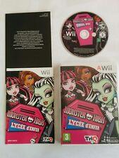 MONSTER HIGH : LYCEE D'ENFER pour Nintendo Wii