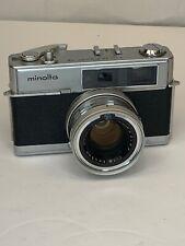MINOLTA HI MATIC 7 35mm Rangefinder Film Camera w/Cap Meter Untested Japan