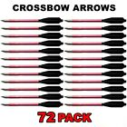 72 ALUMINUM METAL BOLTS ARROWS FOR 50 & 80 LB CROSSBOW ARCHERY XBOX - RED