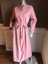 Vintage w/tags HEATHER COLLECTION Soft Tie Robe Sz Large Rose color Made in USA