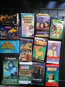 Mixed Disney / TV / Movie Trading Card Unopen 18 Packs Mixed Lot *CHARITY*