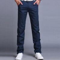 Mens Slim Fit Business Dress Pants Casual Straight Leg Formal Trousers Slacks