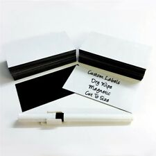 100 x Magnetic Dry Wipe Labels Whiteboard - Many Sizes! by The Magnet Shop®