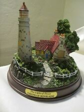 "Thomas Kinkade Lighted Lighthouse ""The Light of Peace"" 5"" W x 4 1/2"" T 1996"