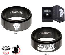 Punisher Ring Spinner Black Size 12