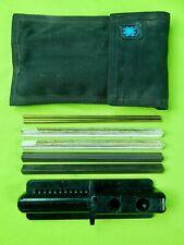 RARE Vintage US Made SPYDERCO Knife Sharpener Sharpening Set w/ Sheath