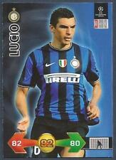 PANINI UEFA CHAMPIONS LEAGUE 2009-10 TRADING CARD-INTER MILAN-LUCIO
