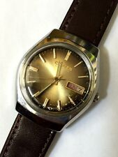 C itizen 51-8051 Vintage 21 Jewels Automatic Watch Brown Dial Day Date Japan